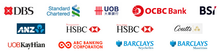 banks we work with