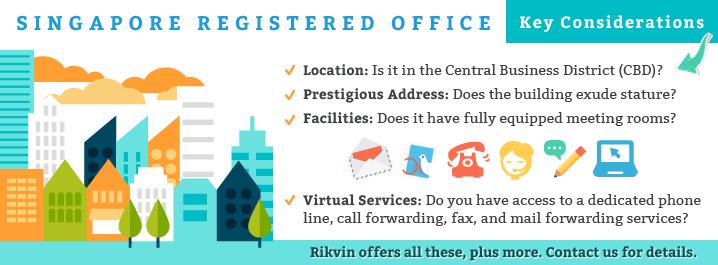 Singapore registered office address