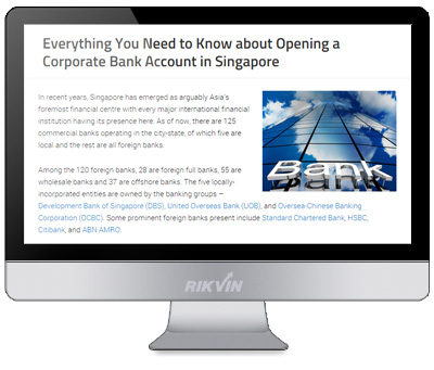 guide on opening a corporate bank account in Singapore