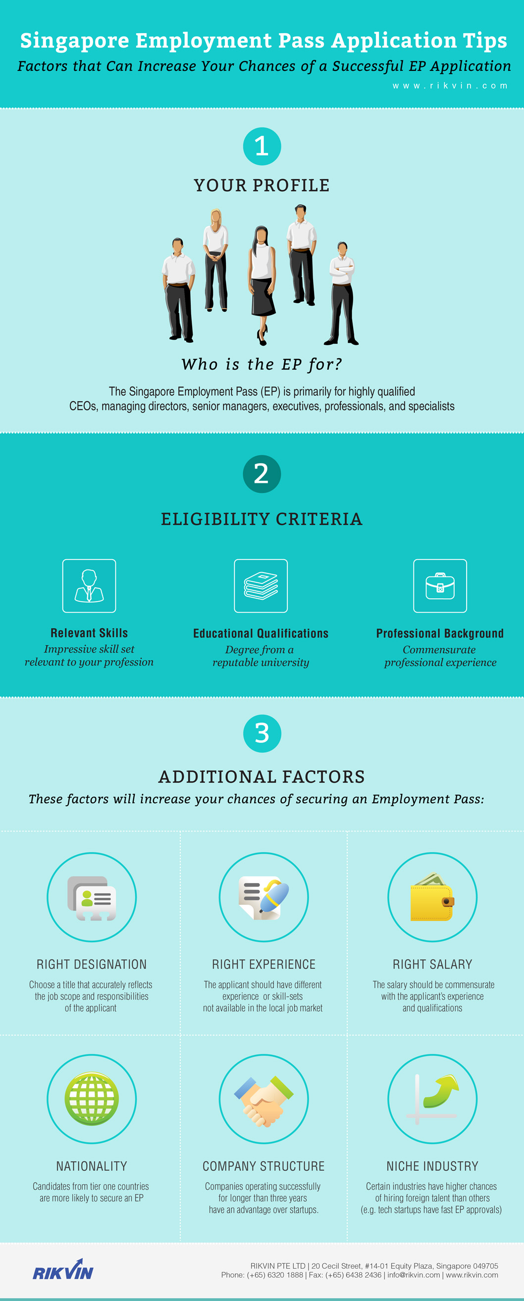 Tips for a successful Singapore Employment Pass application - Infographic