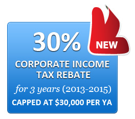 corporate tax singapore rebate