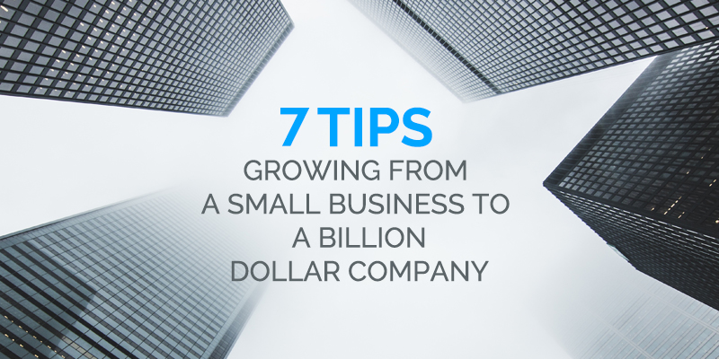 How to Grow from a Small Business to a Billion Dollar Company