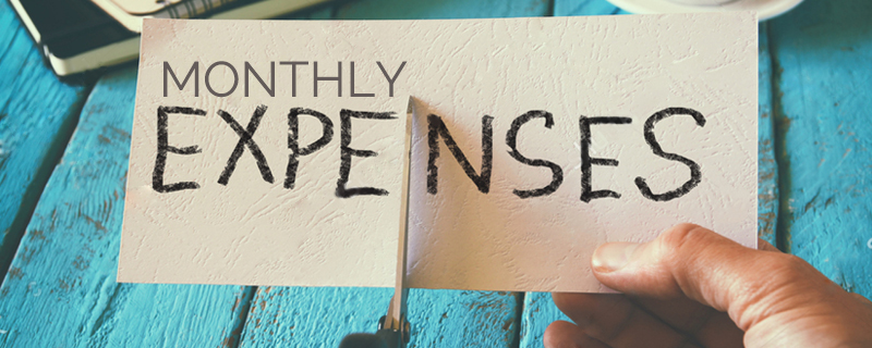 Actively monitor your monthly expenses