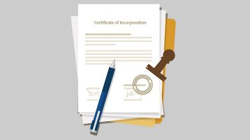 incorporation certification