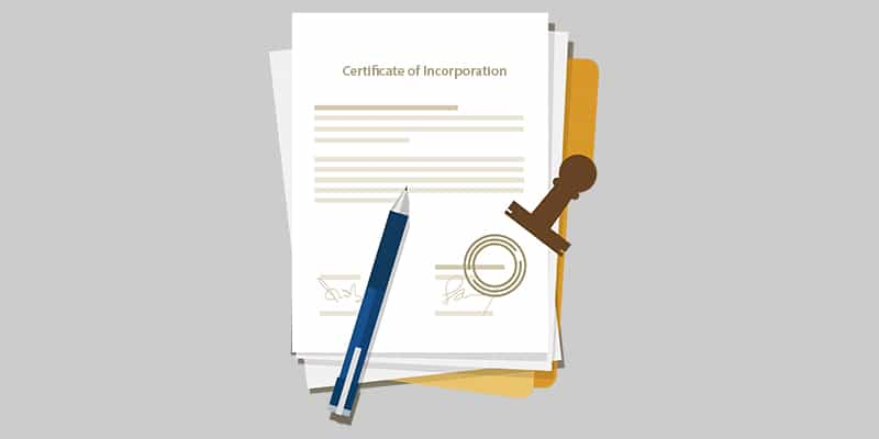 incorporation certification