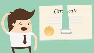 What to do when you lost your certificate