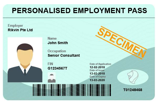 Singapore Personalised Employment Pass