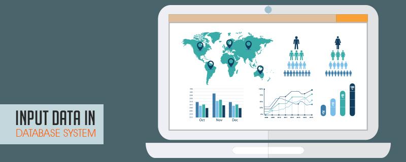 input data in database