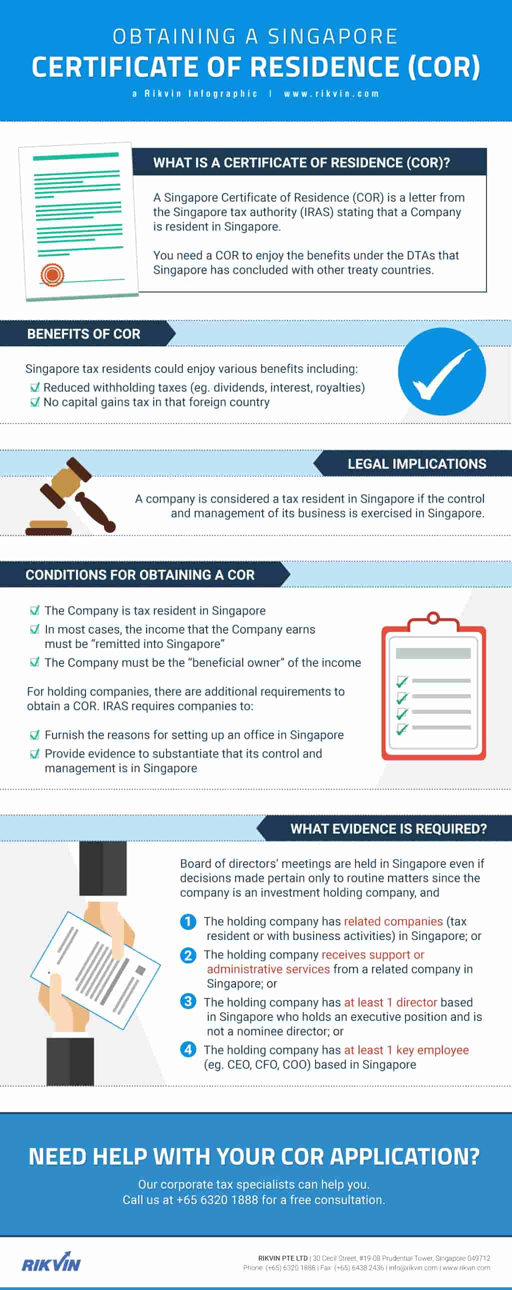 Obtaining A Singapore Certificate Of Residence Rikvin