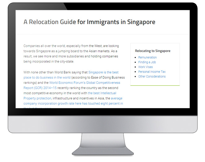 a relocation guide for Singapore immigrants