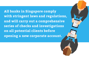 all Singapore banks comply with laws and regulations