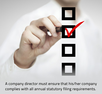 annual filing requirements - company directors
