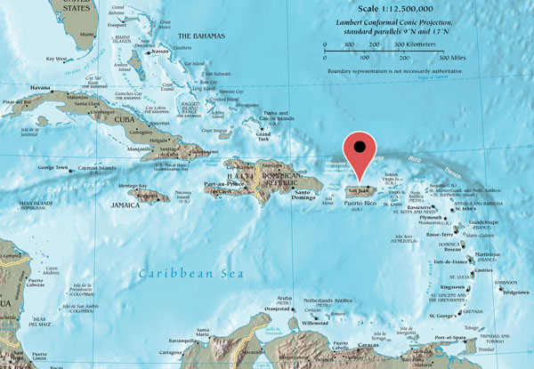 Map of the Carribean
