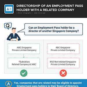 Directorship of an Employment Pass Holder with a Related Company