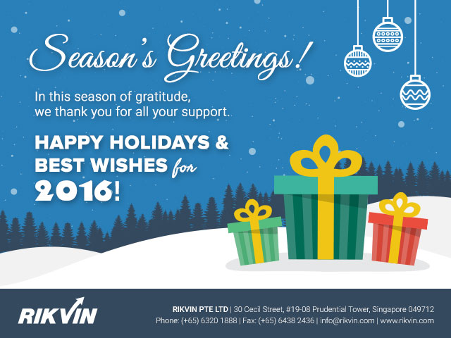 Happy Holidays from Rikvin! - Rikvin Pte Ltd